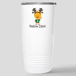 Festive Chick Stainless Steel Travel Mug