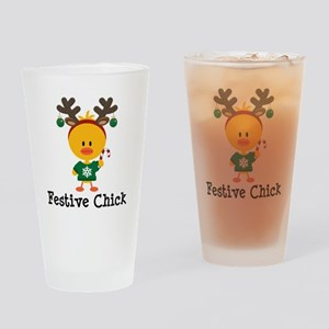 Festive Chick Drinking Glass