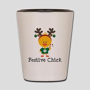 Festive Chick Shot Glass