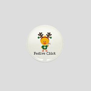 Festive Chick Mini Button
