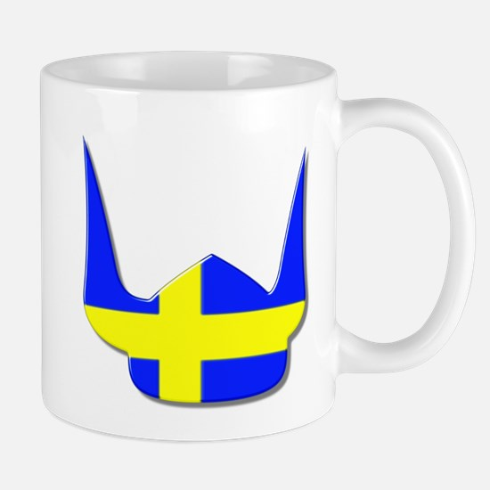 Sweden Swedish Helmet Flag Design Mug