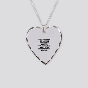 Traveled With Cocker Spaniel Necklace Heart Charm