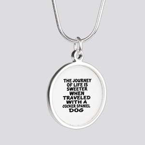 Traveled With Cocker Spaniel Silver Round Necklace