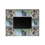 Bobcat and its Tracks Pawprints Picture Frame