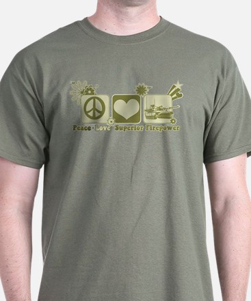 Peace Love Firepower T-Shirt