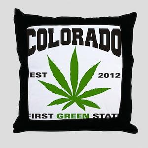 Colorado Cannabis 2012 Throw Pillow
