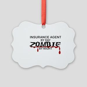 Insurance Agent Zombie Picture Ornament