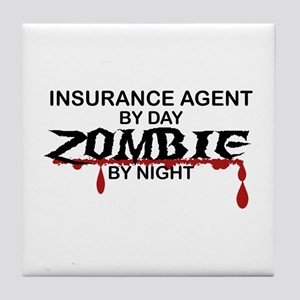 Insurance Agent Zombie Tile Coaster
