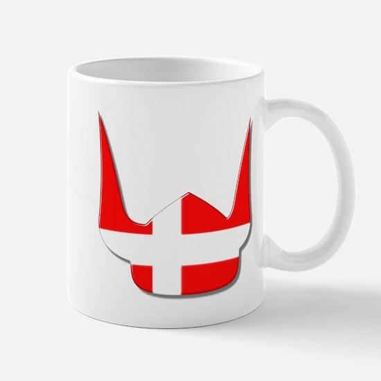 Denmark Dane Helmet Flag Design Mug