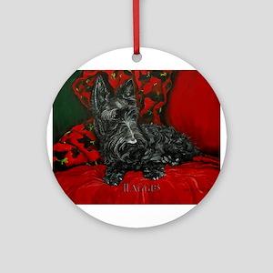 Haggis Scottish Terrier Ornament (Round)