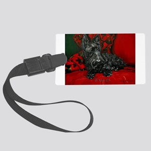 Haggis Scottish Terrier Large Luggage Tag