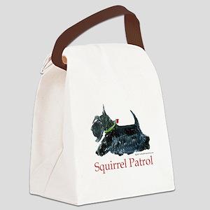 Scottie Squirrel Patrol Canvas Lunch Bag