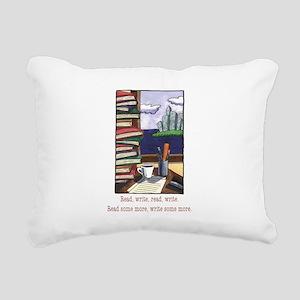 Read Write Rectangular Canvas Pillow