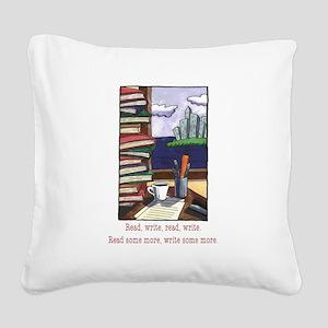 Read Write Square Canvas Pillow