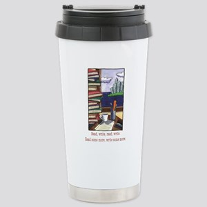 Read Write Stainless Steel Travel Mug