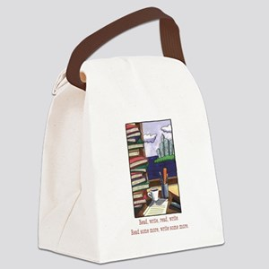 Read Write Canvas Lunch Bag