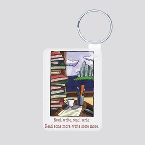 Read Write Aluminum Photo Keychain