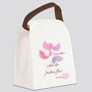Breaking Dawn Feathers Canvas Lunch Bag