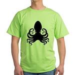 Robot + Octopus Green T-Shirt
