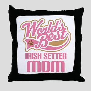 Irish Setter Mom Throw Pillow
