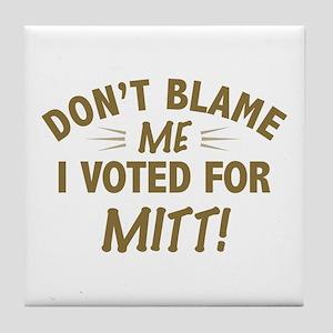 I Voted Mitt Anti Obama Tile Coaster