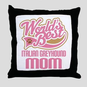 Italian Greyhound Mom Throw Pillow