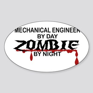 Mechanical Engineer Zombie Sticker (Oval)