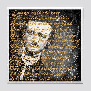 E A Poe A Dream Within a Dream Tile Coaster
