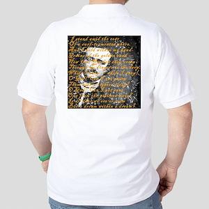 E A Poe A Dream Within a Dream Golf Shirt