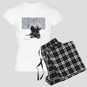 Scottish Terrier Christmas Women's Light Pajamas