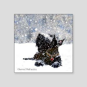 "Scottish Terrier Christmas Square Sticker 3"" x 3"""