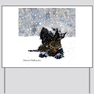 Scottish Terrier Christmas Yard Sign
