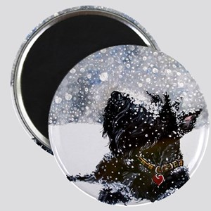 Scottish Terrier Christmas Magnet