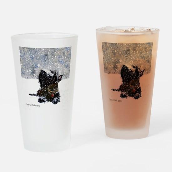 Scottish Terrier Christmas Drinking Glass