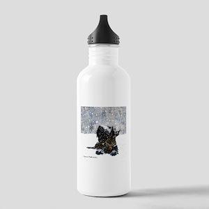 Scottish Terrier Christmas Stainless Water Bottle