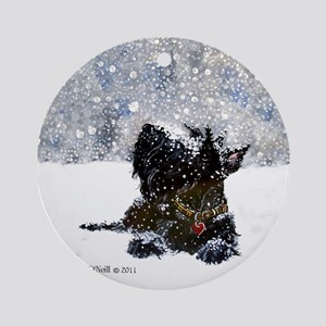 Scottish Terrier Christmas Ornament (Round)