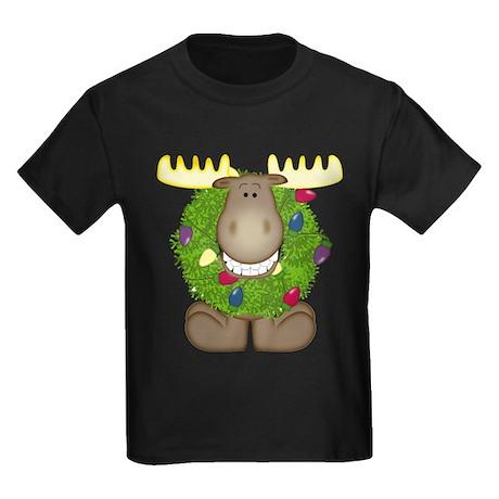 Merry Christmoose Kids Dark T-Shirt