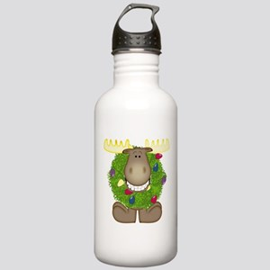 Merry Christmoose Stainless Water Bottle 1.0L