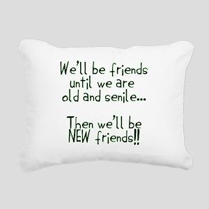 Well be friends png Rectangular Canvas Pillow