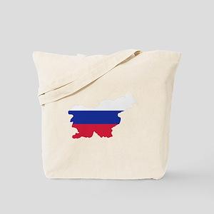 Slovenia map flag Tote Bag
