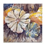 Harvest Gourds Tile Coaster