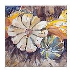 Harvest Gourds Tile Coaster