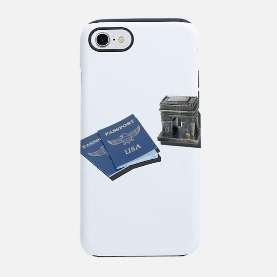 Arc De Triomphe and Passports iPhone 7 Tough Case