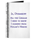 All the German I need to know I learned... Journal