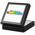 Married in Massachusetts Keepsake Box