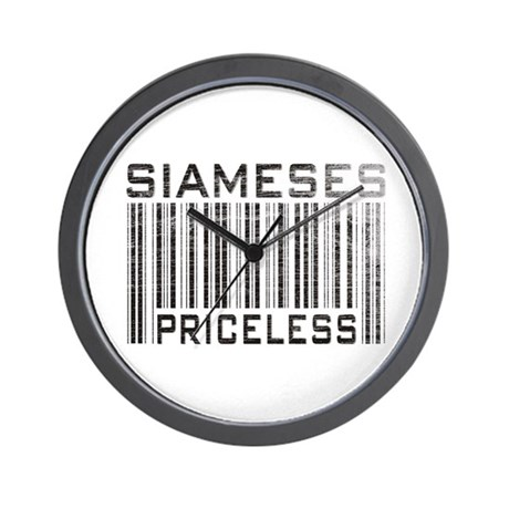 Siameses Priceless Wall Clock