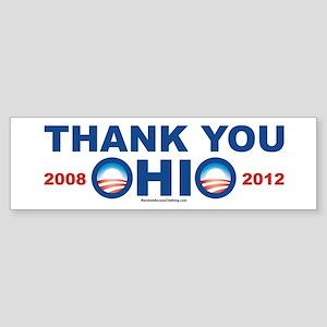 Thank You OHIO 2012 and 2008 - Pro Obama bumper