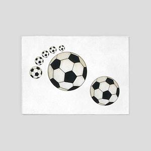 Soccer Ball Footprint 5'x7'Area Rug