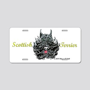 Scottish Terrier Tattoo Art Aluminum License Plate