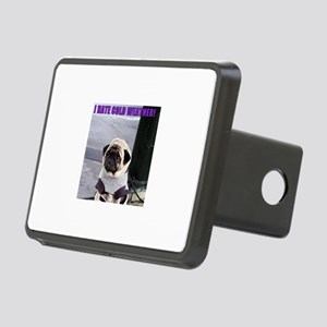 PUGS HATE COLD WEATHER Rectangular Hitch Cover